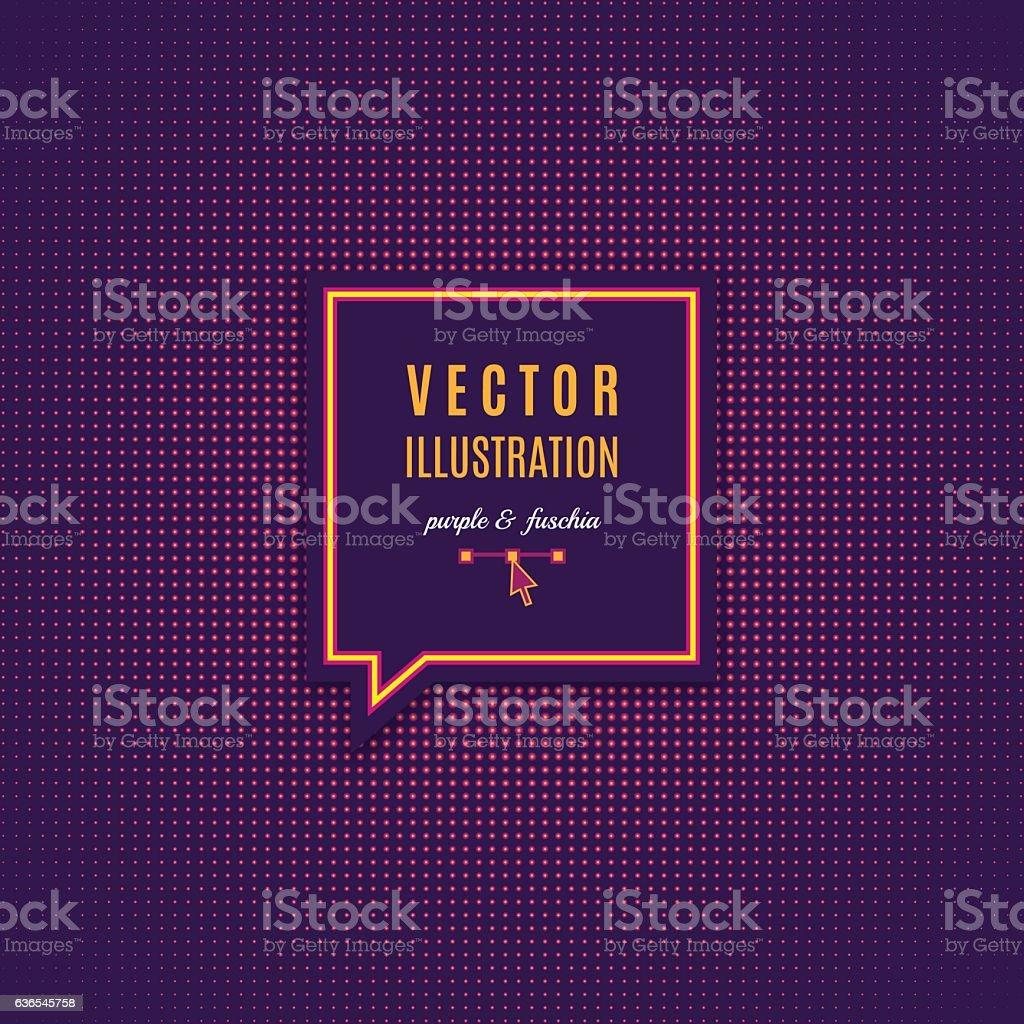Purple fuschia abstract light background Magenta minimal design Vector Dotwork