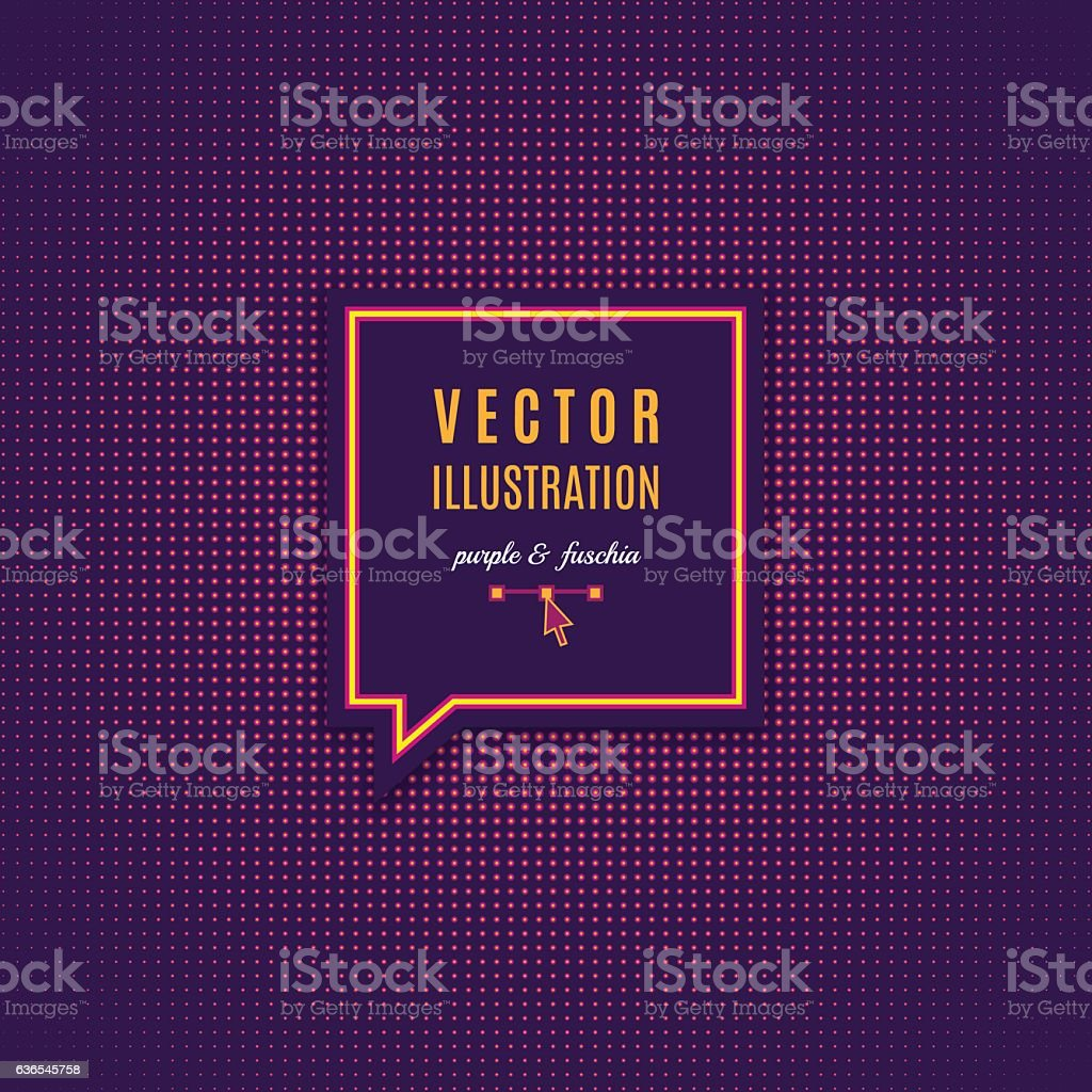 Purple fuschia abstract light background Magenta minimal design Vector Dotwork vector art illustration