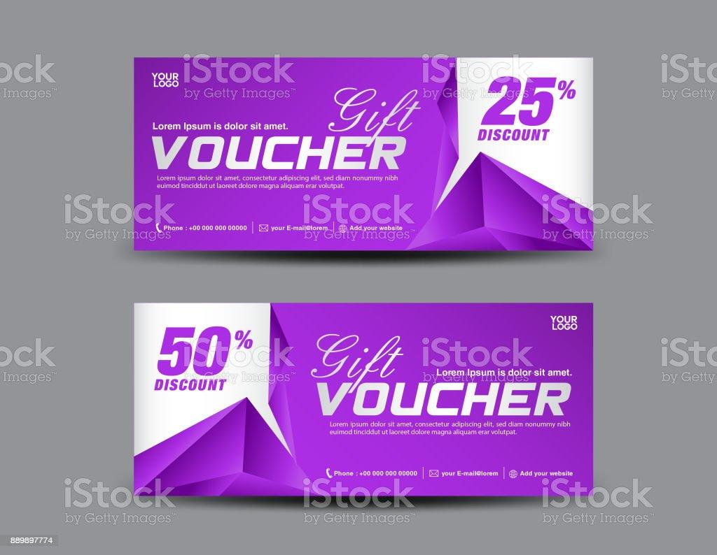 Carte Cadeau Polygone.Violet Design Promo Billets Banniere Cartes Modele De