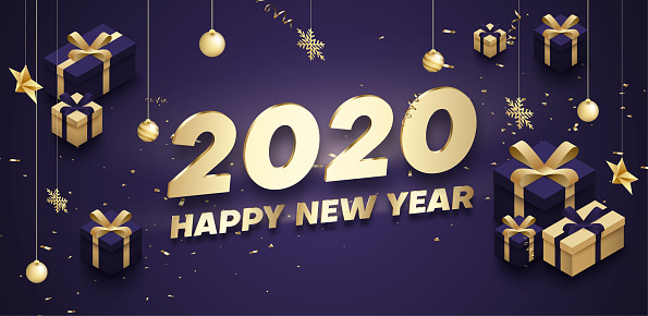 New Year 2020 banner template ~ Graphic Objects ~ Creative ...