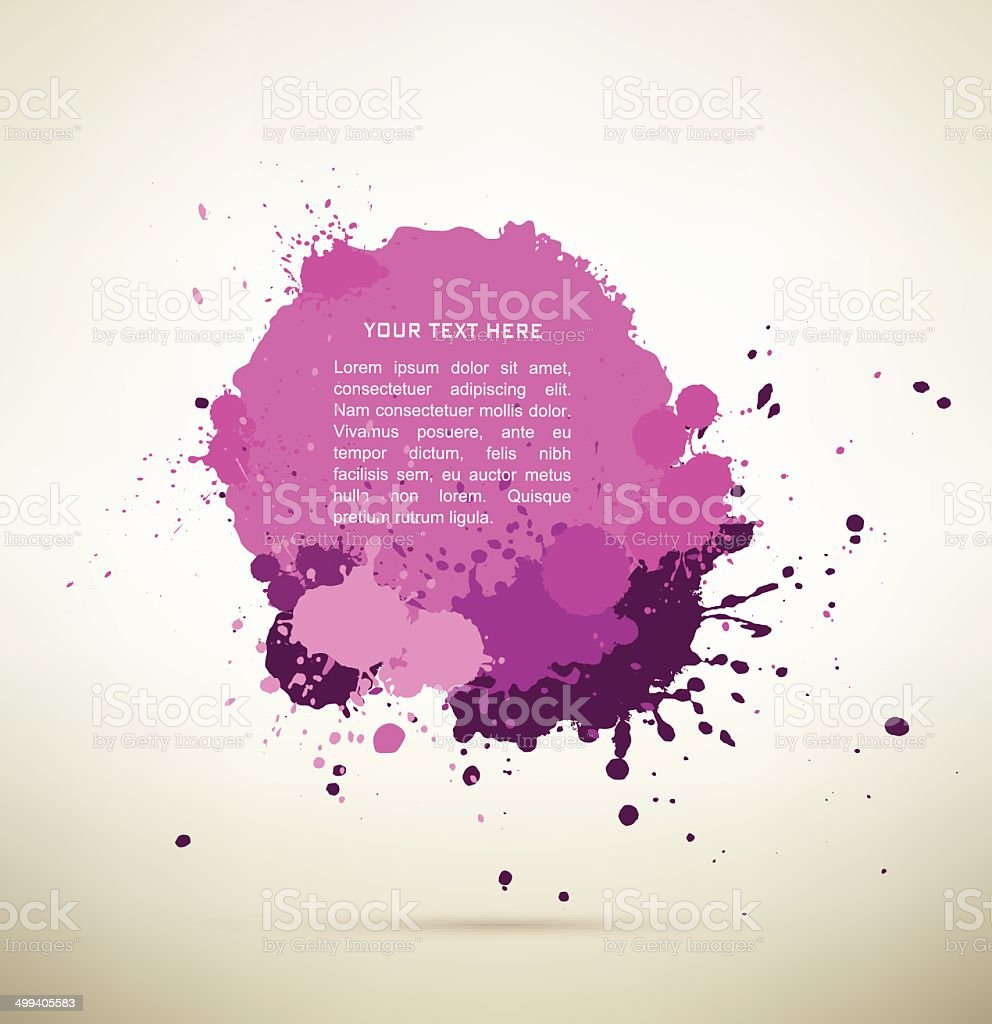 purple Ink splats with text. royalty-free purple ink splats with text stock vector art & more images of abstract