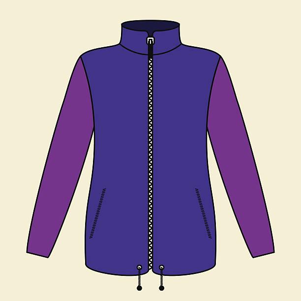 illustrazioni stock, clip art, cartoni animati e icone di tendenza di giacca viola - mockup outdoor rain