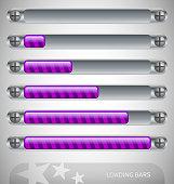 Purple - steel Loading Bars with stripes