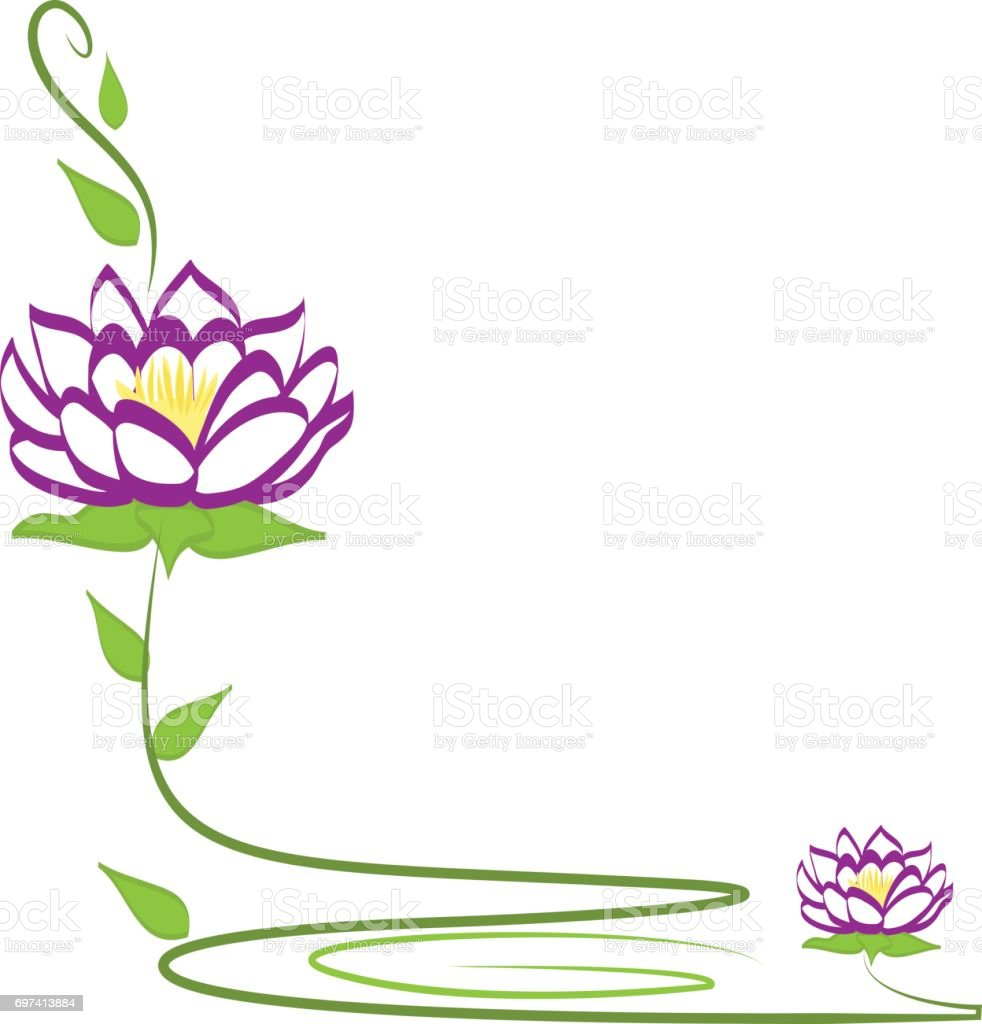 lila lotus blume symbol vektor stock vektor art und mehr bilder von abstrakt 697413884 istock. Black Bedroom Furniture Sets. Home Design Ideas