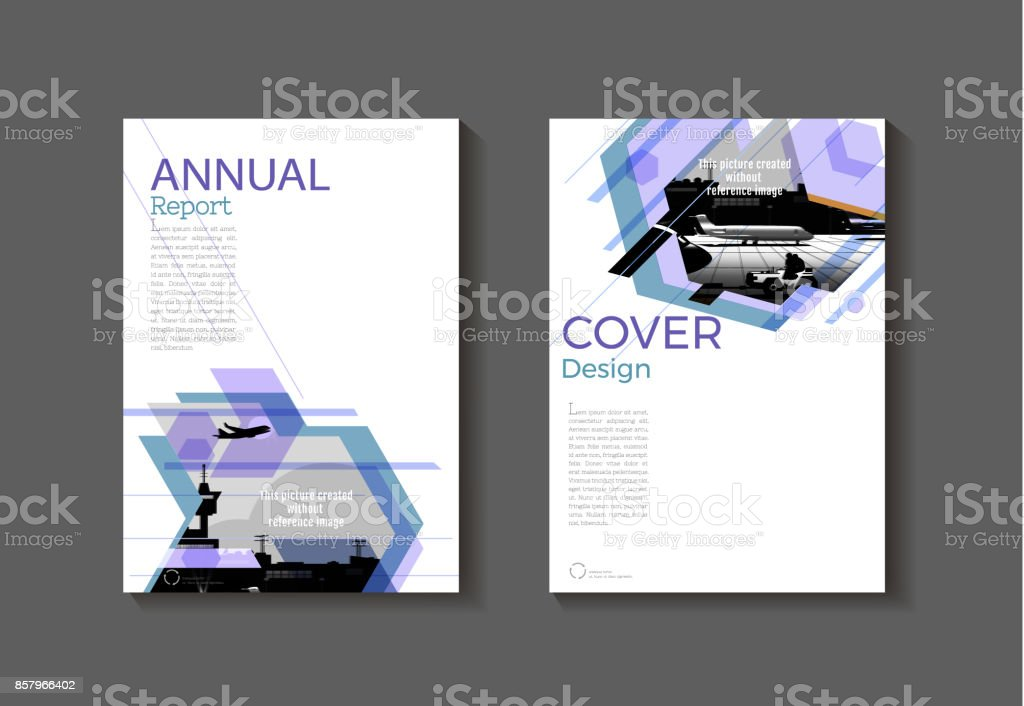 purple modern abstract cover book brochure template design annual