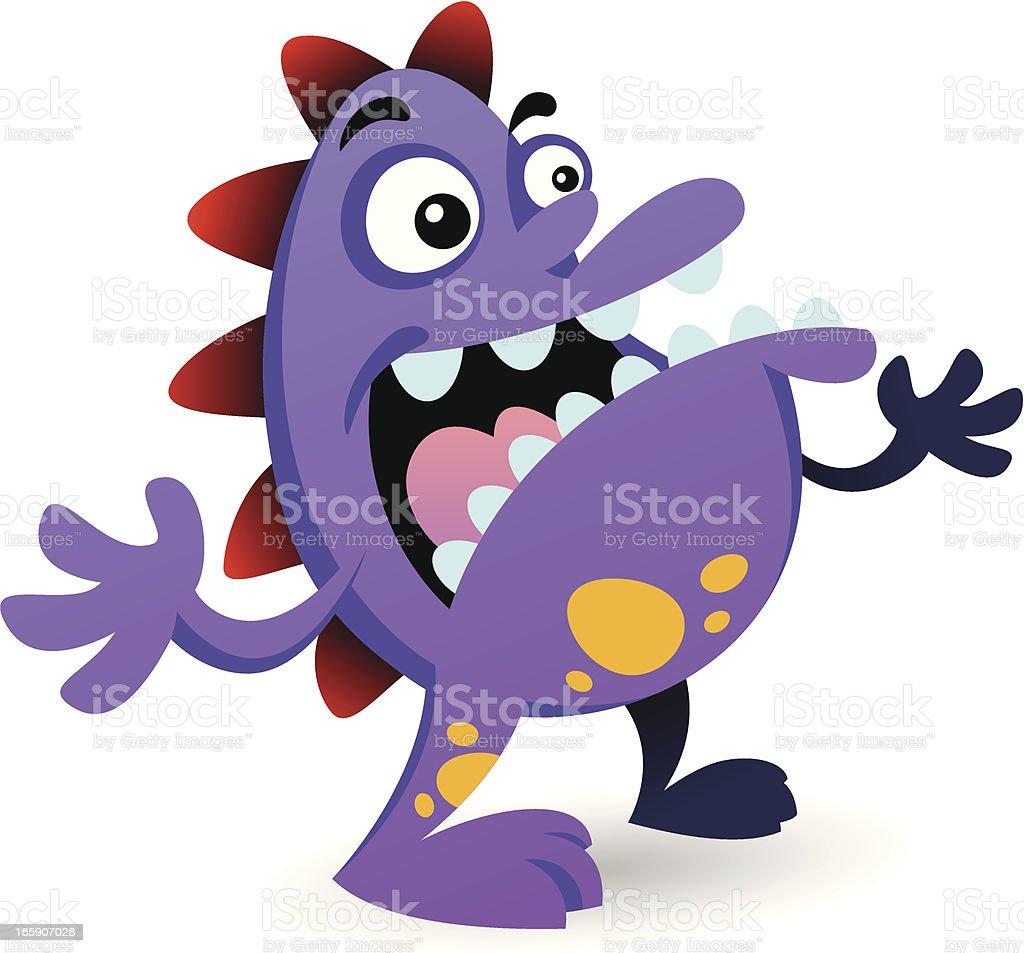 Purple Monster royalty-free purple monster stock vector art & more images of animal