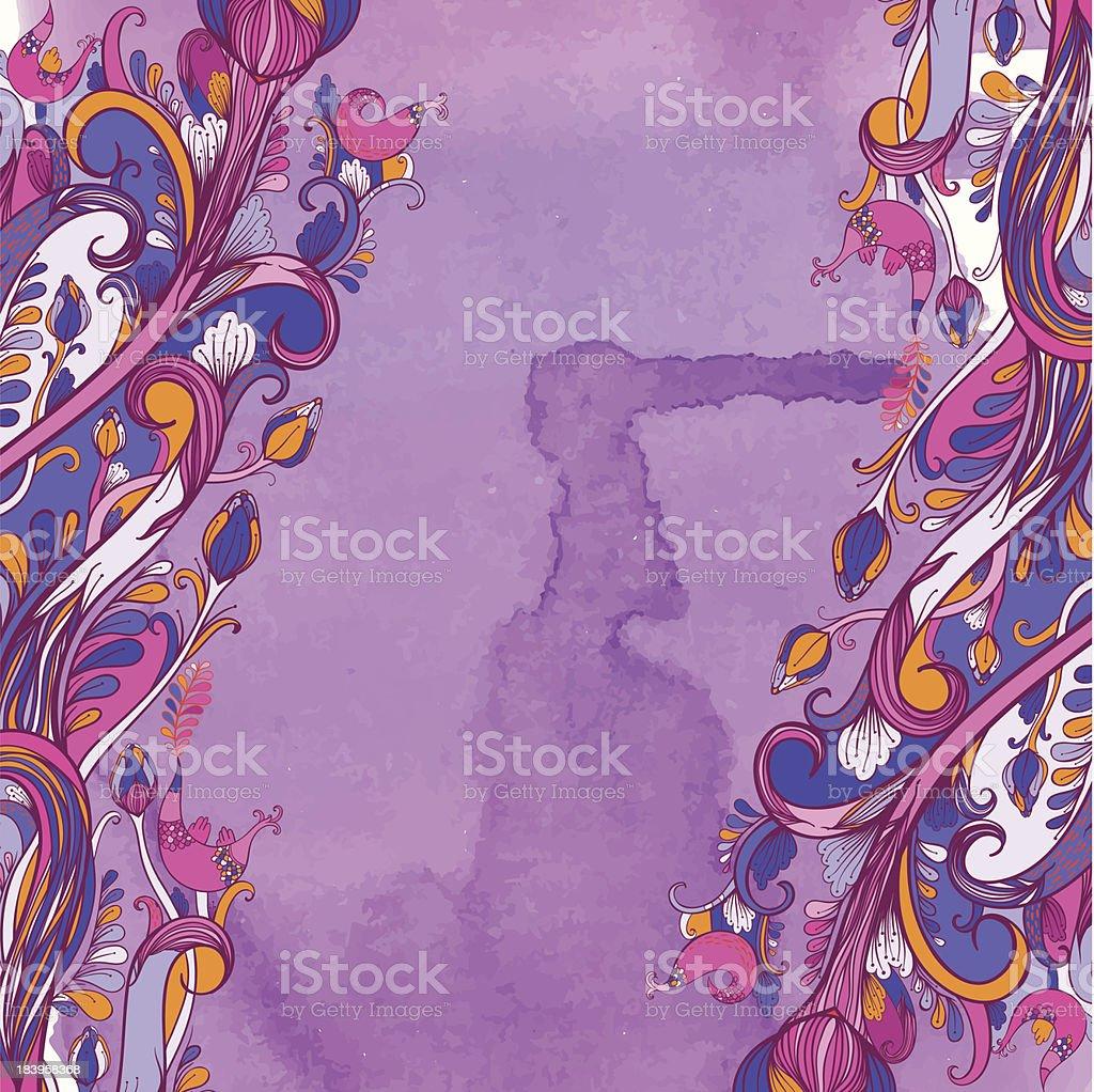 Purple mood royalty-free stock vector art