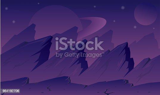 istock Purple Planet Background 954192706