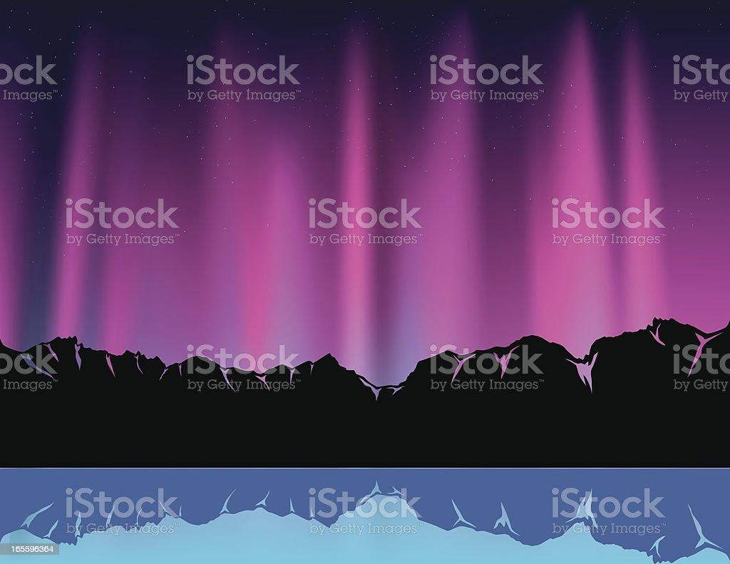 Purple Polar Light royalty-free purple polar light stock vector art & more images of aurora borealis