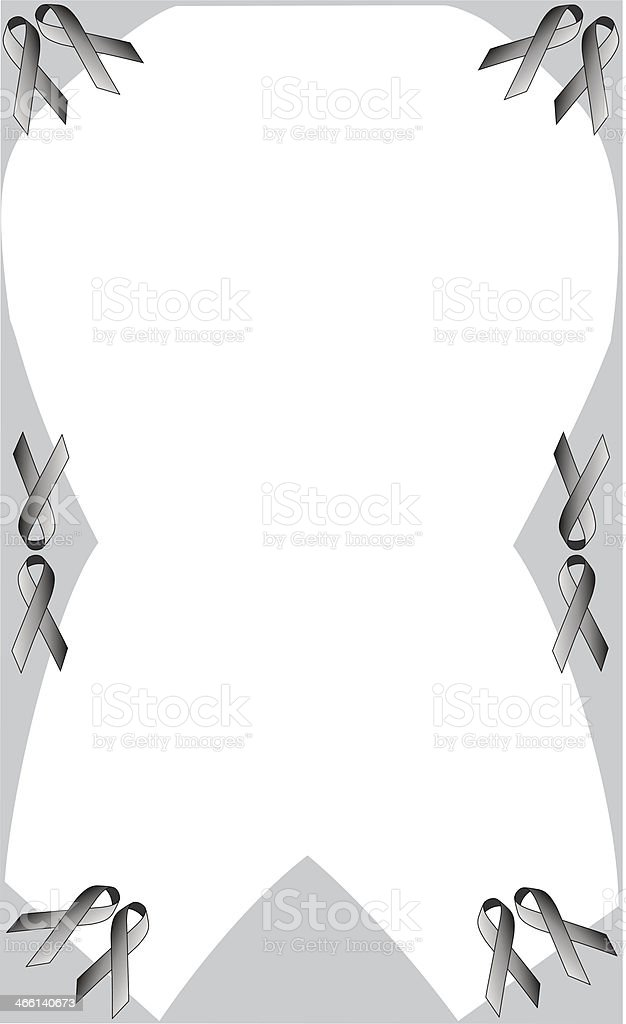 Purple Ribbon Frame royalty-free stock vector art