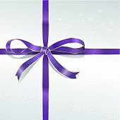 Shinning purple bow. Includes highres (3300x3300) jpg & psd with layers and clipping paths (Can easily change to any colours with the selection from path.)