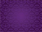 Purple seamless floral pattern with a vintage design