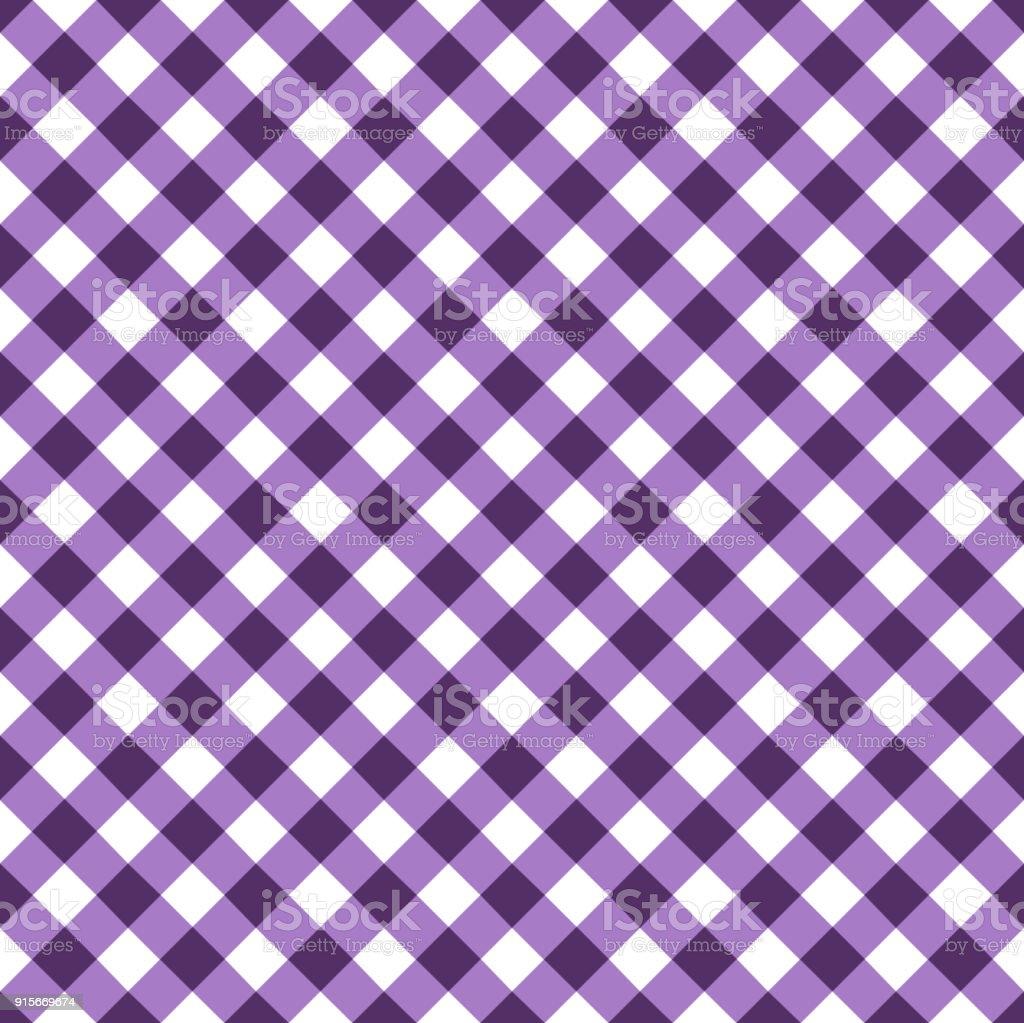 Purple Tablecloth Pattern Vector Art Illustration