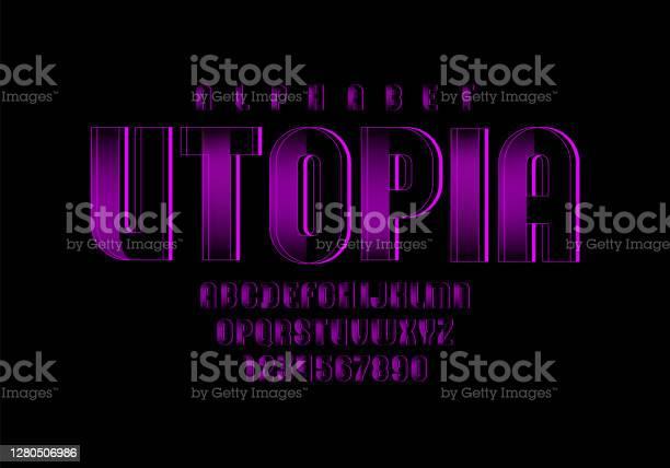 紫色技術字體數位字母字母向量10eps向量圖形及更多互聯網圖片
