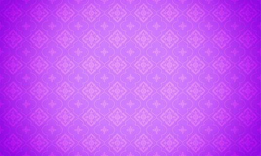 Purple Thai pattern background vector illustration. Modern Thai element pattern on Light purple background.