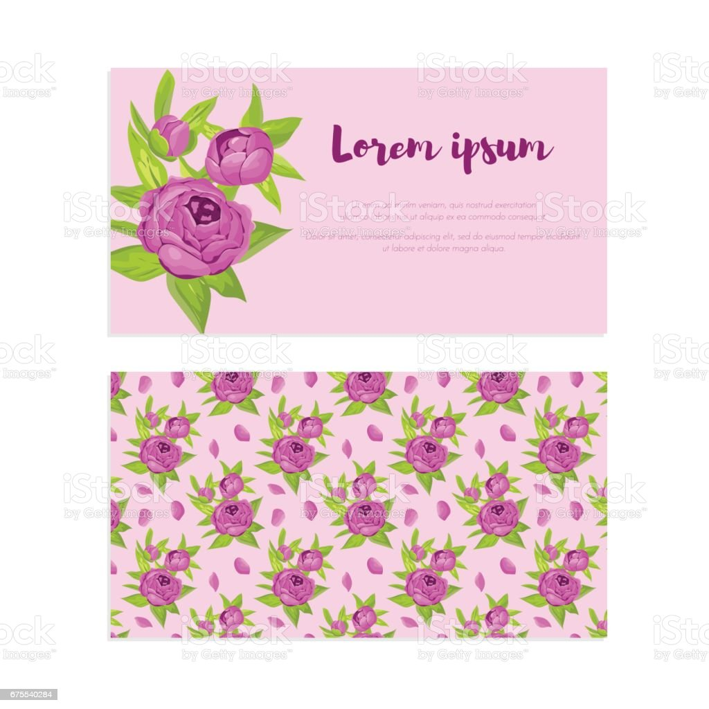 Purple Vintage Flowers In Frame With Sign And Pattern For Wedding ...