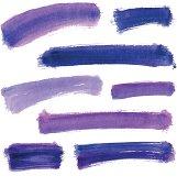 Watercolor brushstroke processed as vector image.