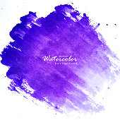 India, Purple, Watercolor Painting, Brush Stroke, Abstract