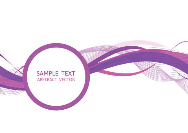 lila welle abstrakt vektor hintergrund grafik-design mit textfreiraum - lila stock-grafiken, -clipart, -cartoons und -symbole
