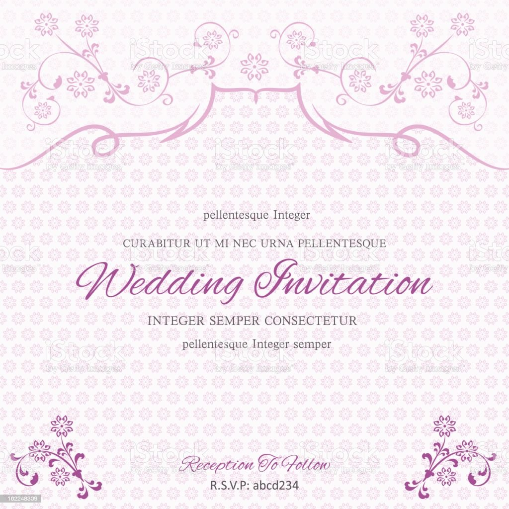 purple wedding invitation template stock vector art more images of
