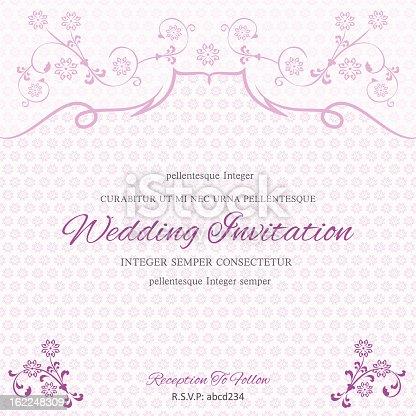 パープルの結婚式招待状のテンプレート のイラスト素材 162248309 istock