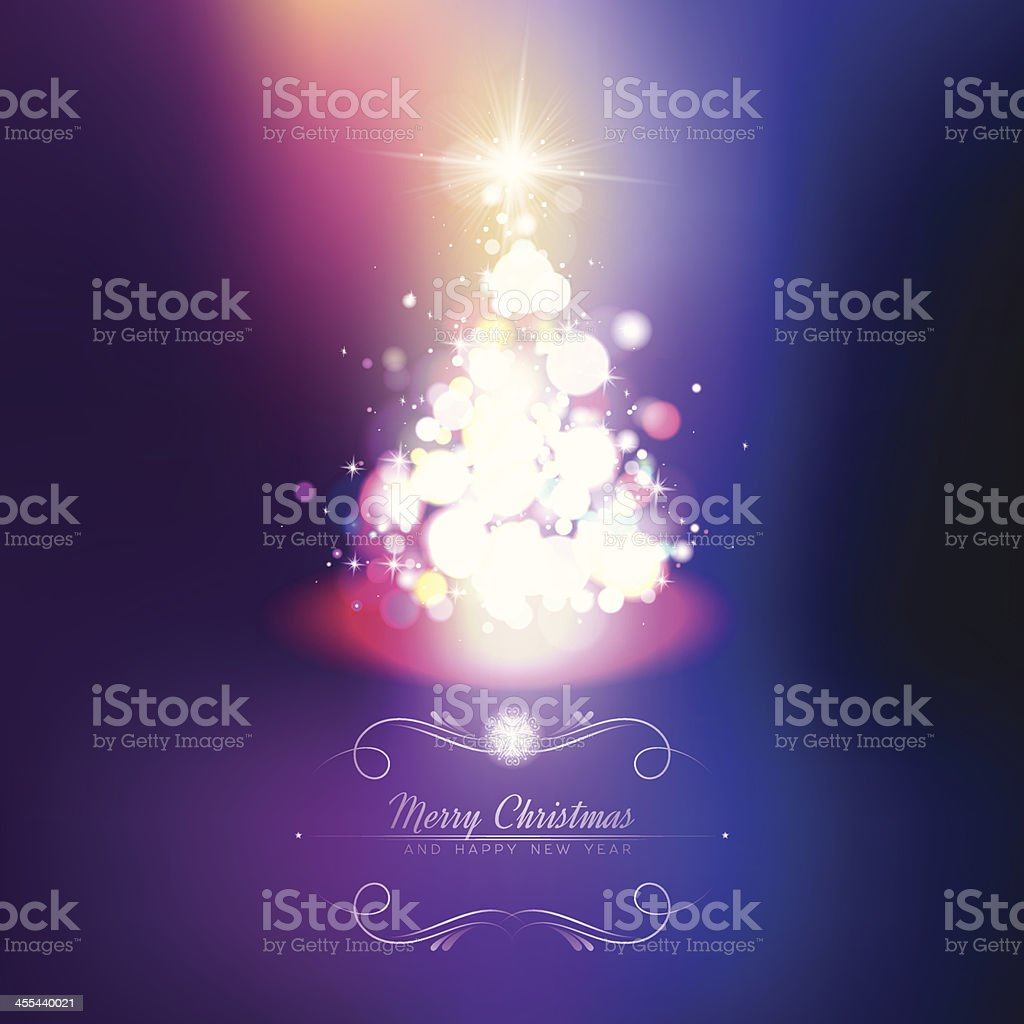 Purple Xmas Tree Background. EPS10 royalty-free purple xmas tree background eps10 stock vector art & more images of backgrounds