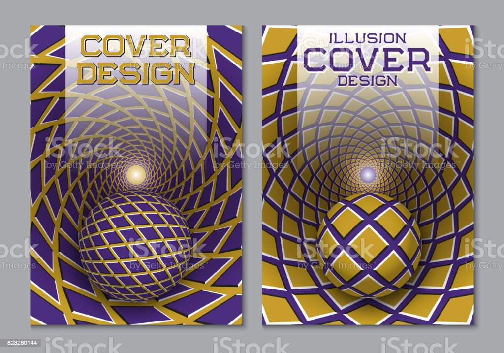 Book Cover Design Elements : Purple yellow color scheme book cover design template with
