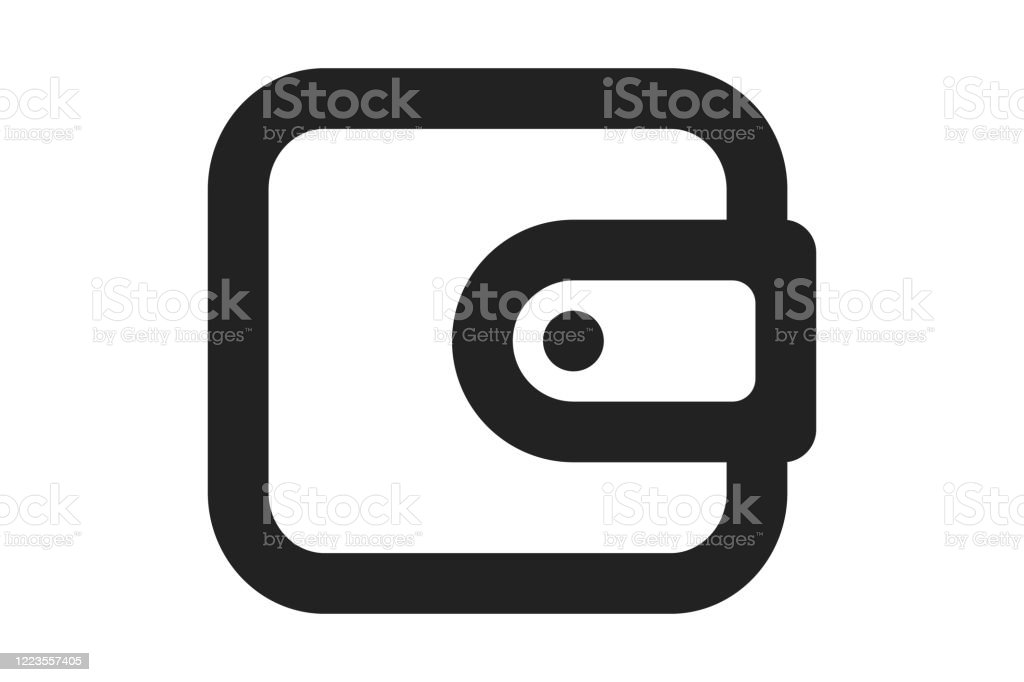 Purse Icon Vector Money Sign Isolated On White Pay Online Mobile Payment Bill Salary Shopping Concept Flat Style For Graphic Design Logo Web Website Social Media Ui Stock Illustration Download Image