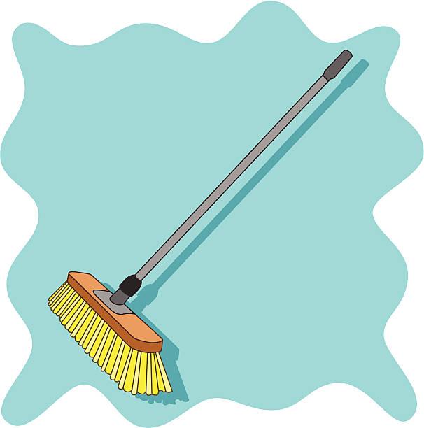 push broom vector art illustration