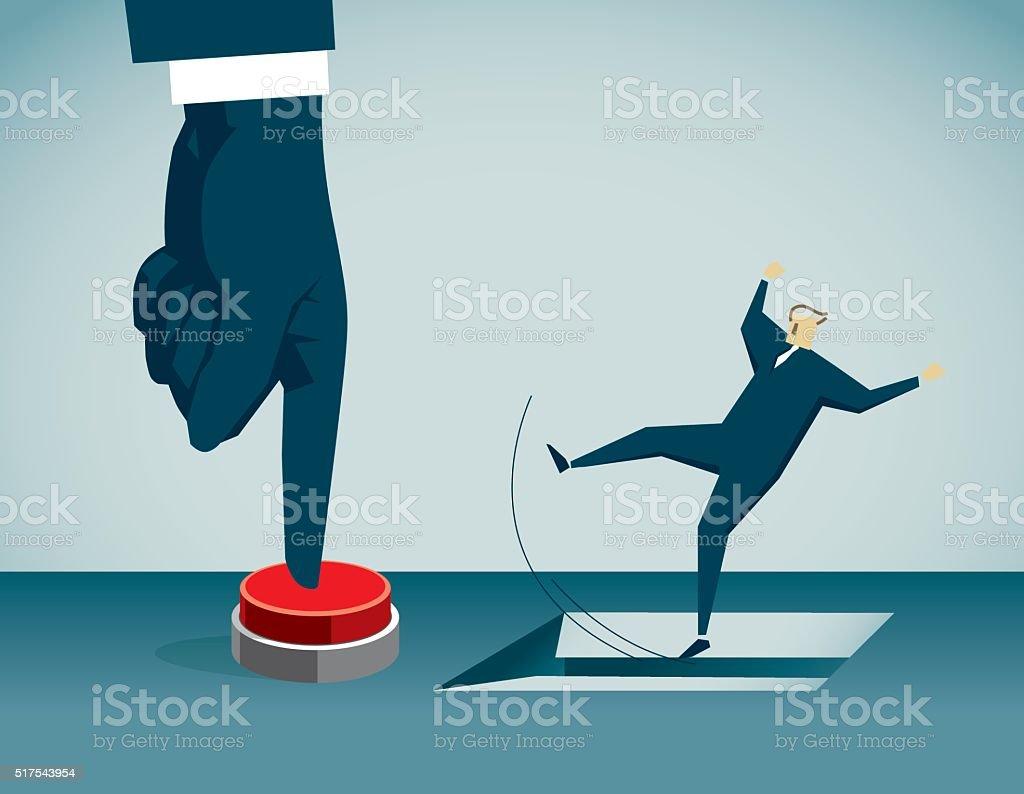 Push Button vector art illustration