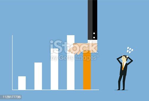 Bar Graph, Stock Market Data, Data, Human Hand, Reduction