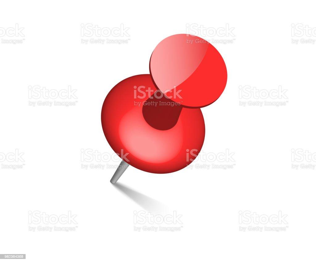 Push Pin Punaise Top View Vecteurs Libres De Droits Et Plus D Images Vectorielles De Affaires Istock