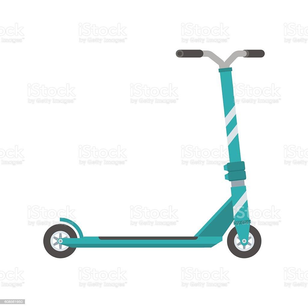 Push Scooter Illustration vector art illustration