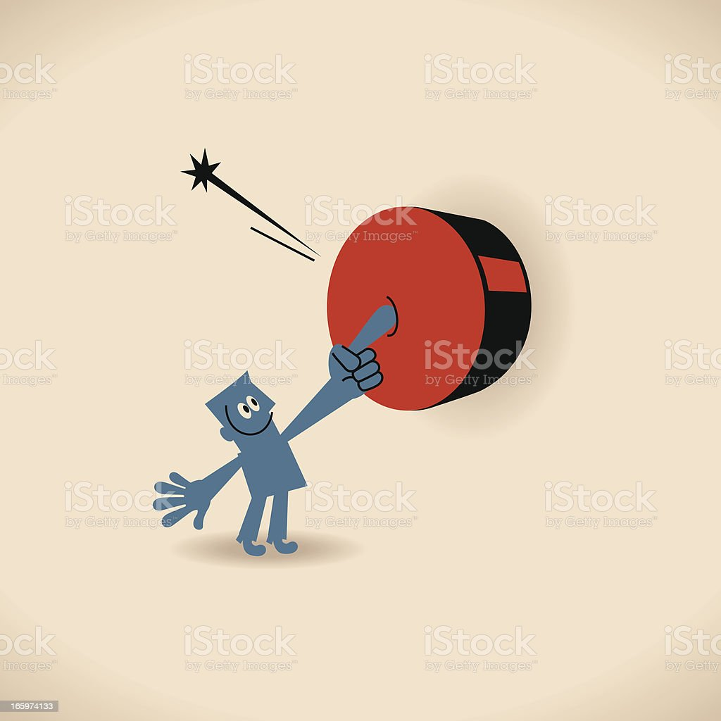 Push the Button royalty-free stock vector art