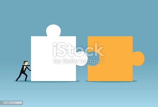 istock Pushing combine puzzle 1014325888