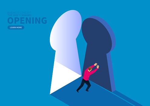Pushing open the door to success