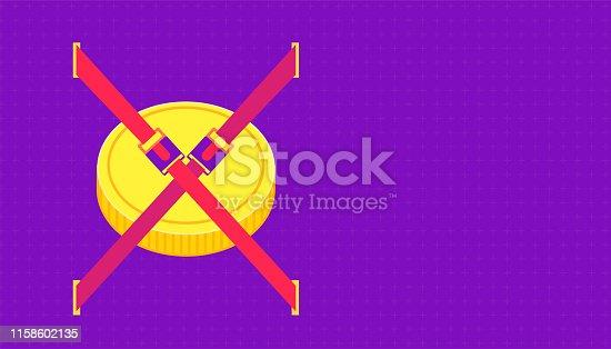 put the money belt before crash the affluent. beautiful color background. vector illustration eps10