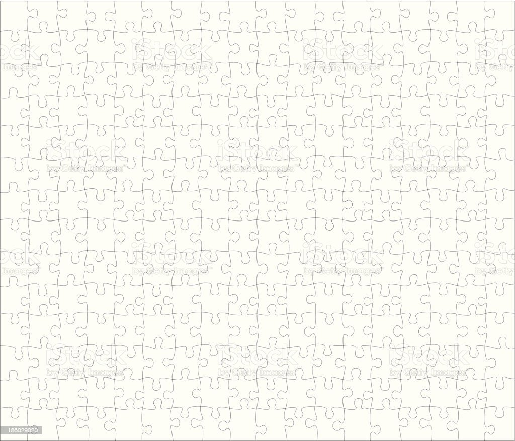 Puzzle 252 pieces royalty-free stock vector art