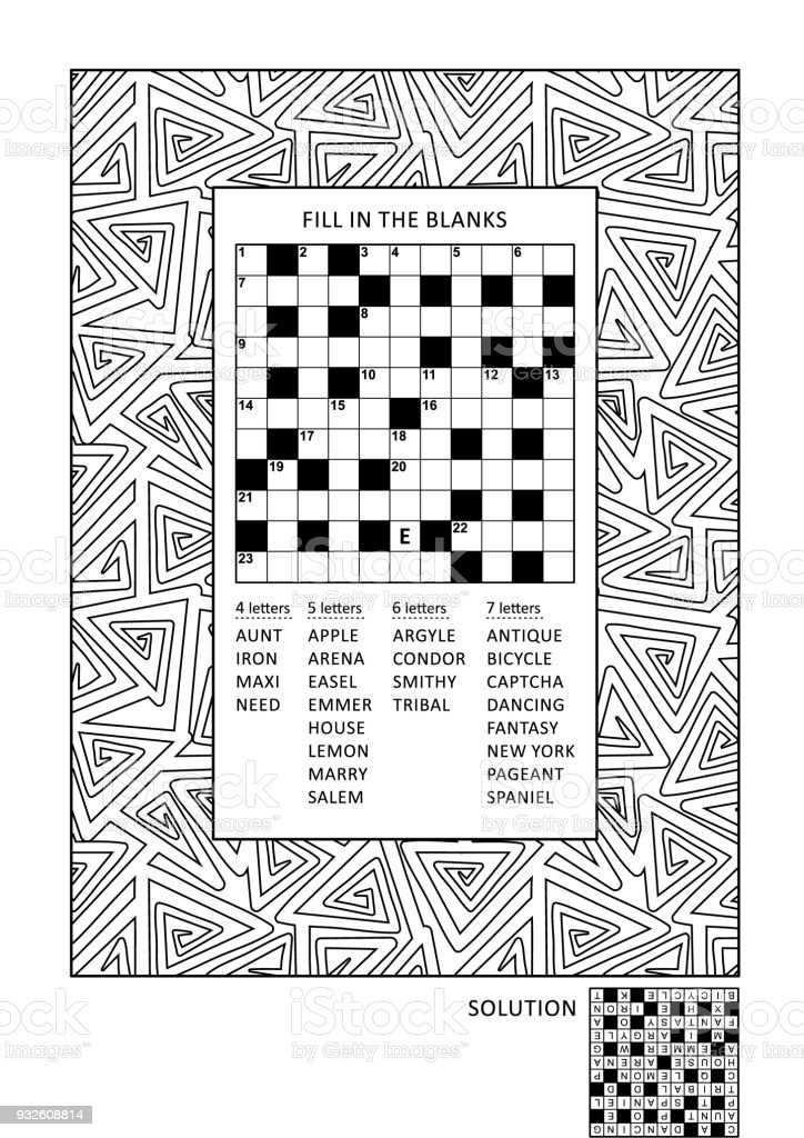 Puzzle And Coloring Activity Page For Adults Royalty Free