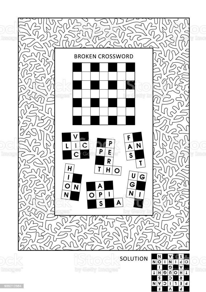 Puzzle And Coloring Activity Page For Adults Stock Vector Art & More ...