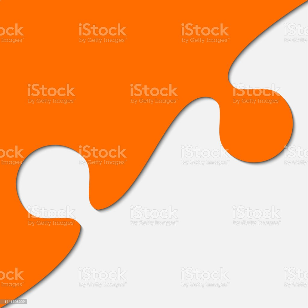 Puzzle Background Banner Blank Vector Jigsaw Section