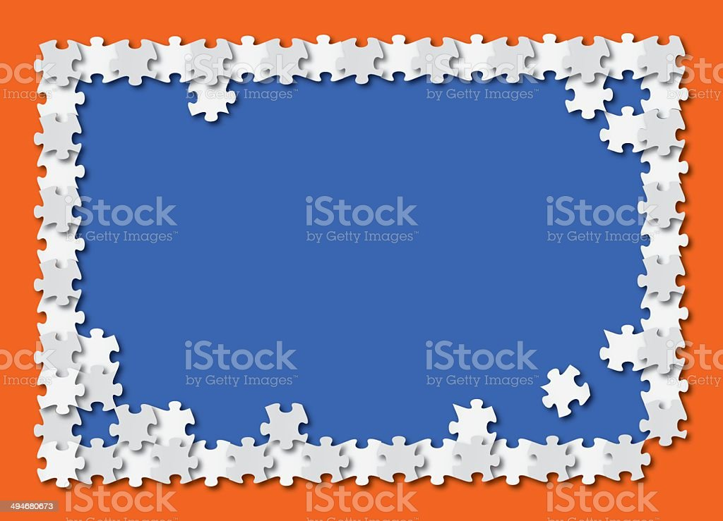 Puzzle Background vector art illustration