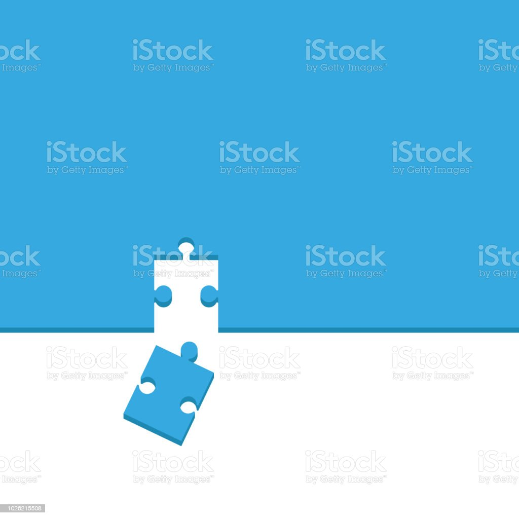 Puzzle. Background Vector vector art illustration