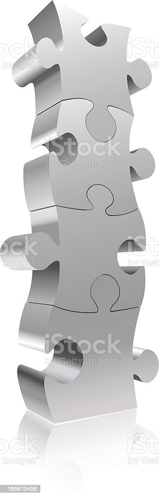 Puzzle Block royalty-free stock vector art