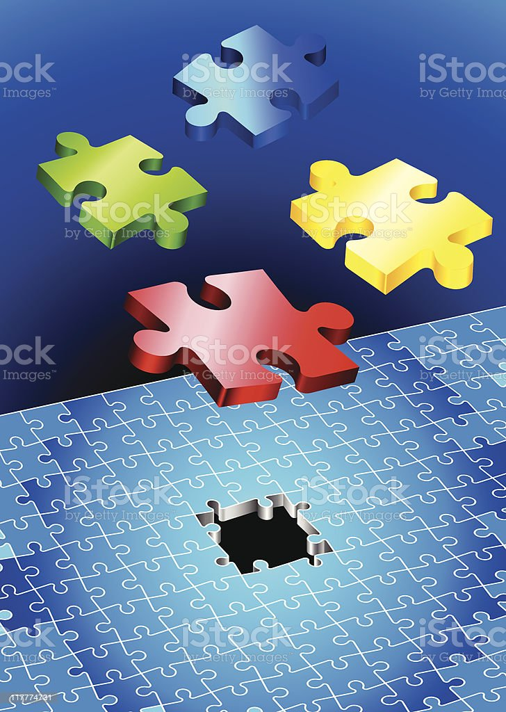 puzzle completion internet background royalty-free puzzle completion internet background stock vector art & more images of absence