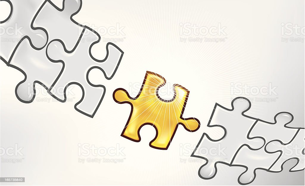 Puzzle connection vector art illustration