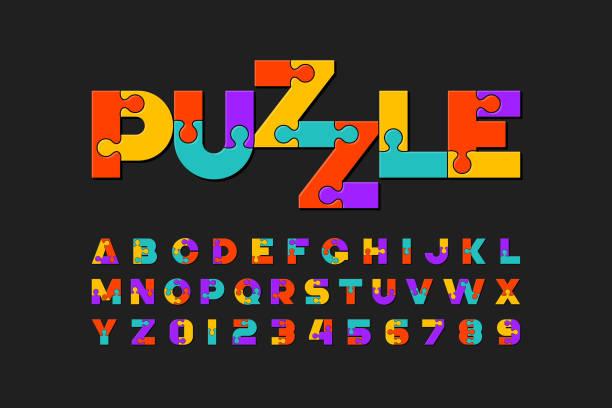 パズル フォント - パズル点のイラスト素材/クリップアート素材/マンガ素材/アイコン素材