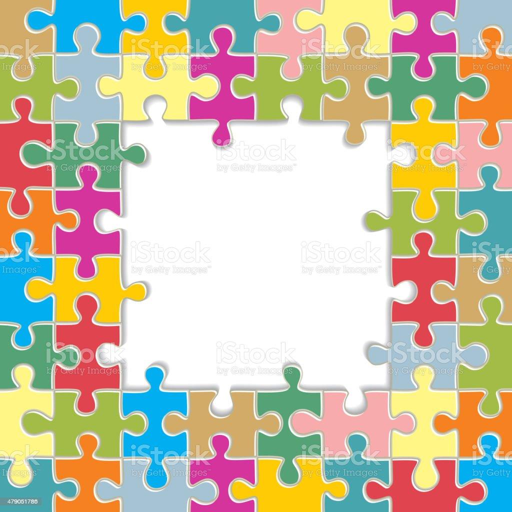 Ilustración de Puzzle Marco De Fondo Ilustración Vectorial y más ...
