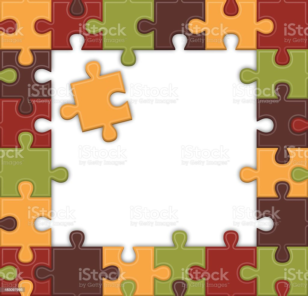 Puzzle Frame royalty-free stock vector art
