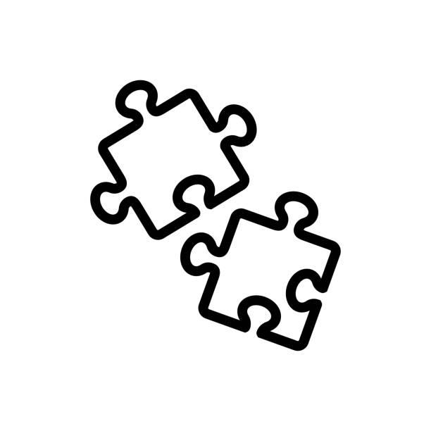 puzzle game icon vector outline illustration puzzle game icon vector. puzzle game sign. isolated contour symbol illustration backgammon stock illustrations